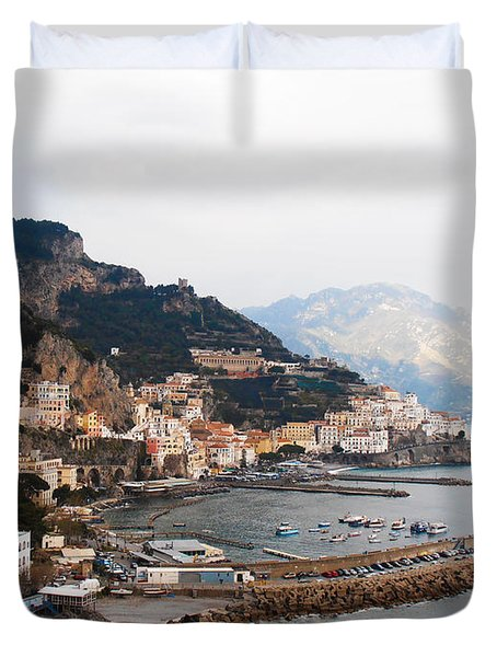 Amalfi Italy Duvet Cover by Pat Cannon