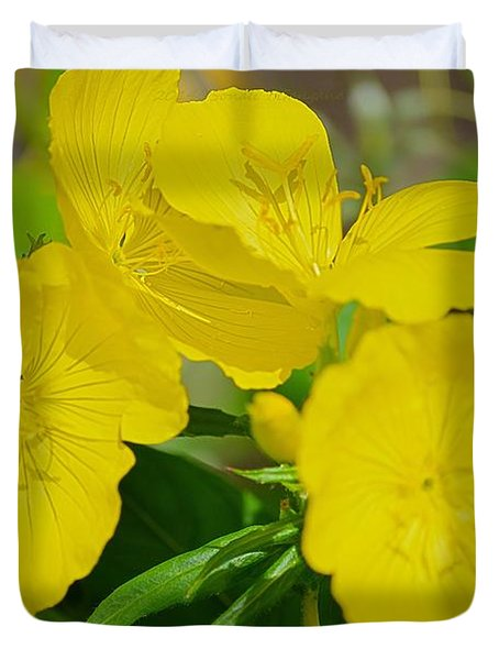 Amarillo Sunshine Duvet Cover by Sonali Gangane