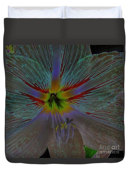 Amaryllis Colors Duvet Cover by D Hackett