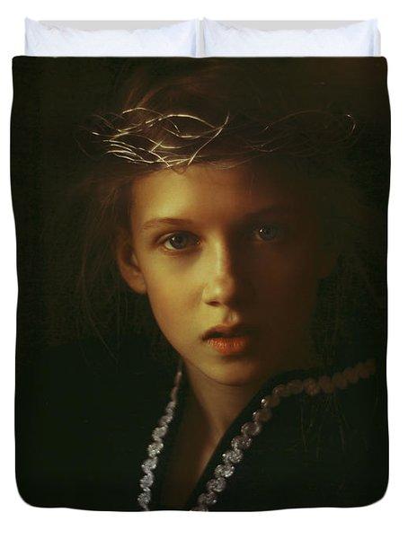 Ambers Embers Duvet Cover by Alexander Kuzmin