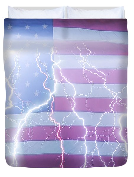 America The Powerful Duvet Cover by James BO  Insogna