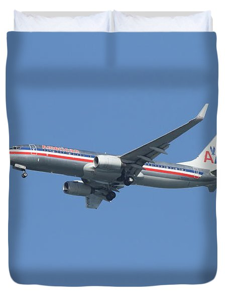 American Airlines Jet 7d21917 Duvet Cover by Wingsdomain Art and Photography