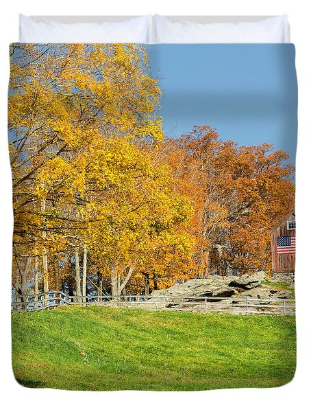 American Autumn Square Duvet Cover by Bill  Wakeley