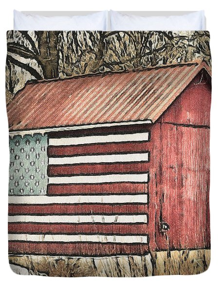 American Barn Duvet Cover by Trish Tritz