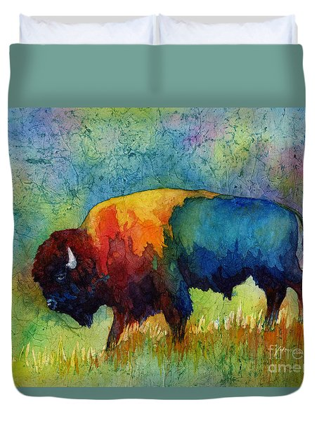 American Buffalo IIi Duvet Cover by Hailey E Herrera