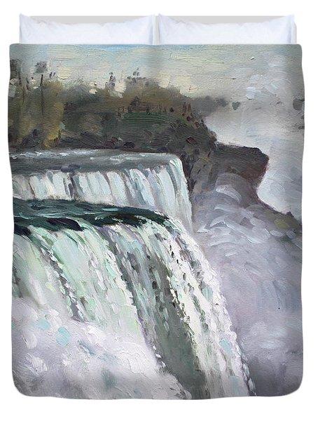 American Falls Niagara Duvet Cover by Ylli Haruni