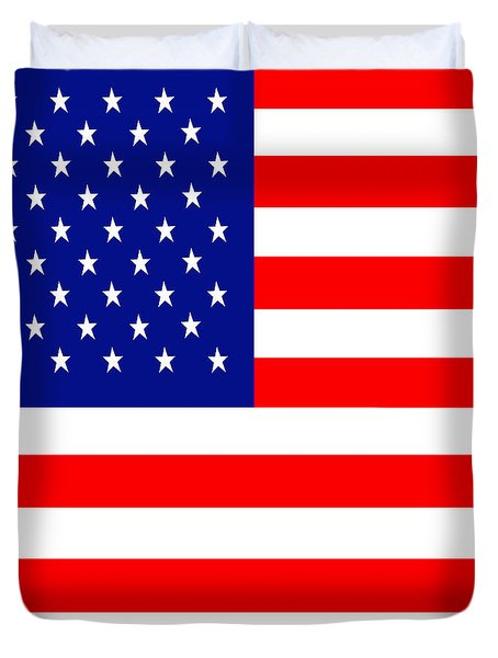 American Flag . Square Duvet Cover by Wingsdomain Art and Photography