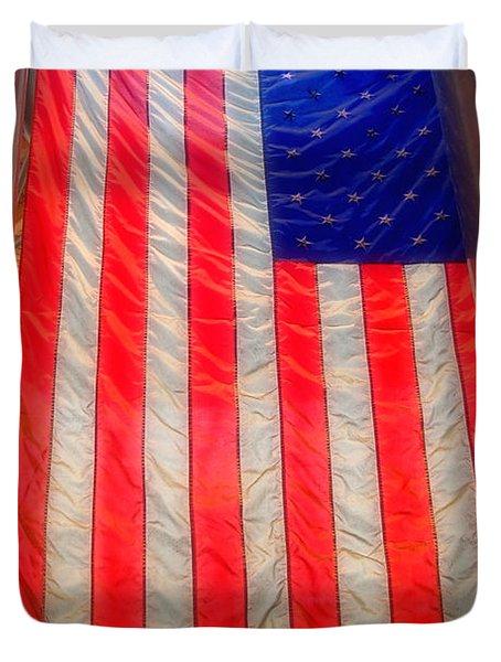 American Flag Duvet Cover by Joann Vitali