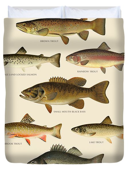 American Game Fish Duvet Cover by Gary Grayson