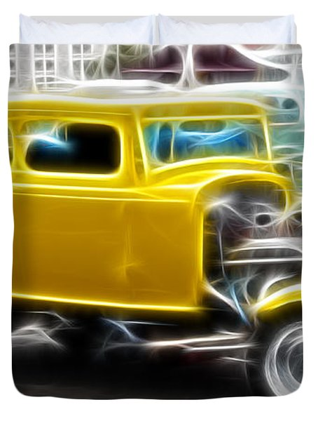 American Grafitti Coupe Duvet Cover by Steve McKinzie