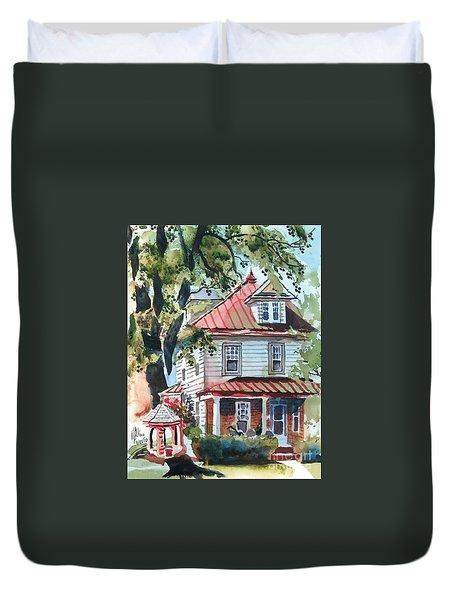 American Home With Children's Gazebo Duvet Cover by Kip DeVore