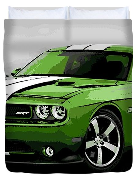 American Muscle Duvet Cover by George Pedro