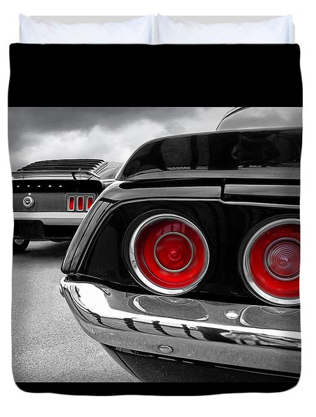 American Muscle Duvet Cover by Gill Billington