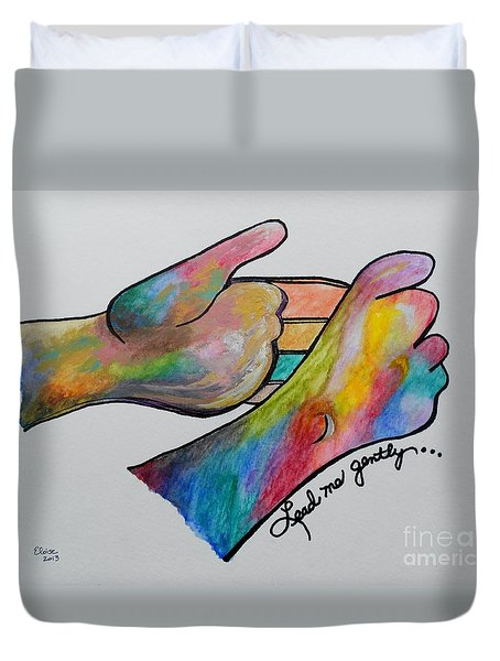 American Sign Language ... Lead Me Gently Duvet Cover by Eloise Schneider