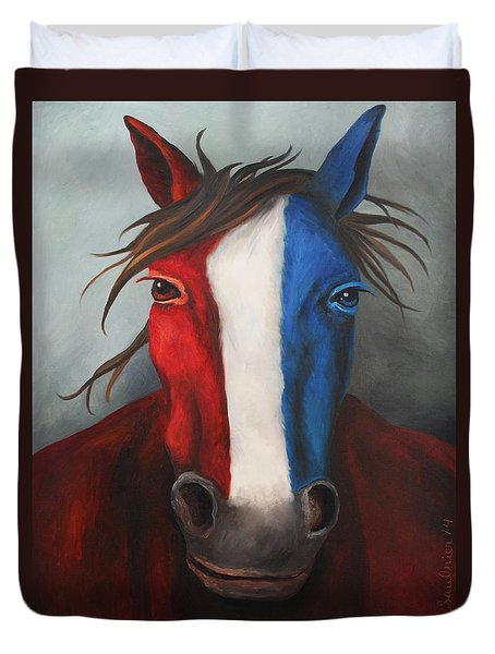 American Spirit Duvet Cover by Leah Saulnier The Painting Maniac