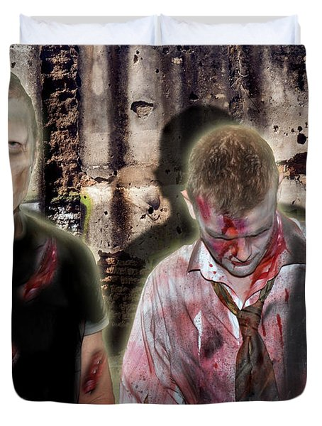 American Zombies Duvet Cover by Gary Keesler