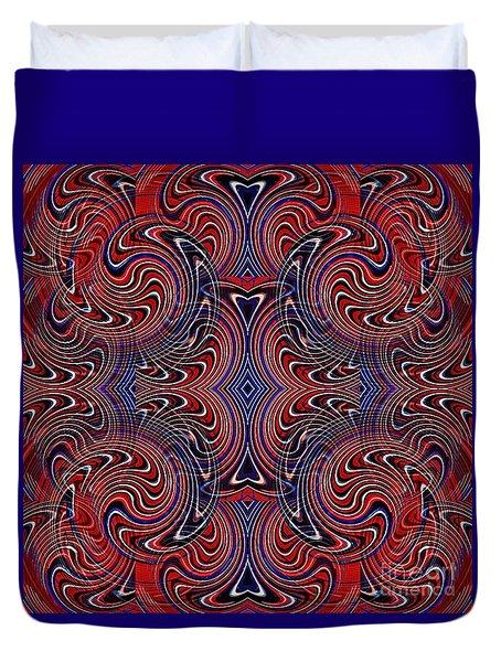Americana Swirl Design 4 Duvet Cover by Sarah Loft