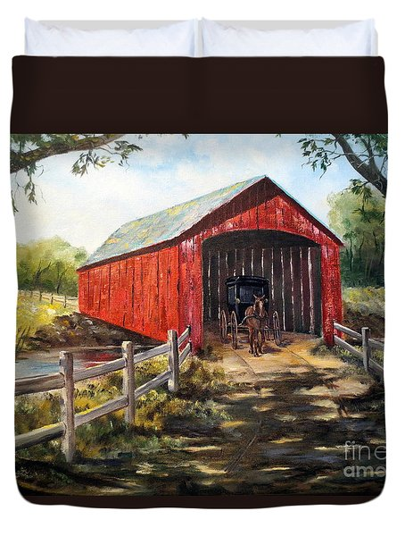 Amish Country Duvet Cover by Lee Piper