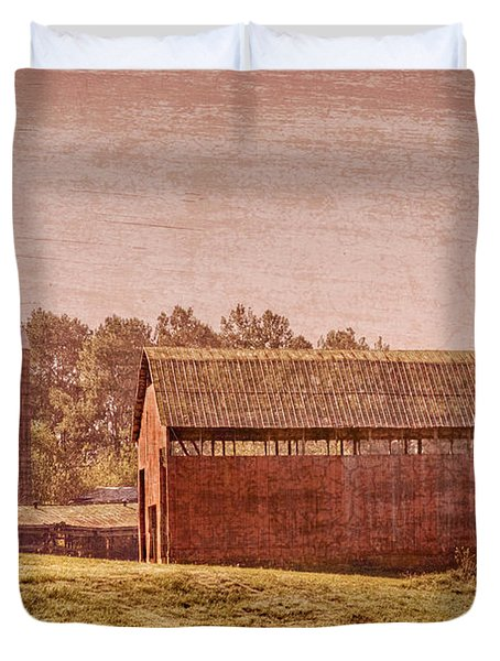 Amish Farm Duvet Cover by Debra and Dave Vanderlaan