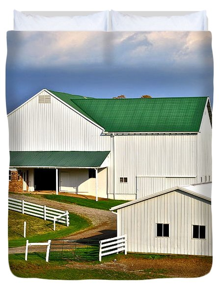 Amish Living Duvet Cover by Frozen in Time Fine Art Photography
