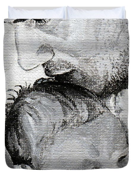 Amit And Mika Duvet Cover by Tamir Barkan