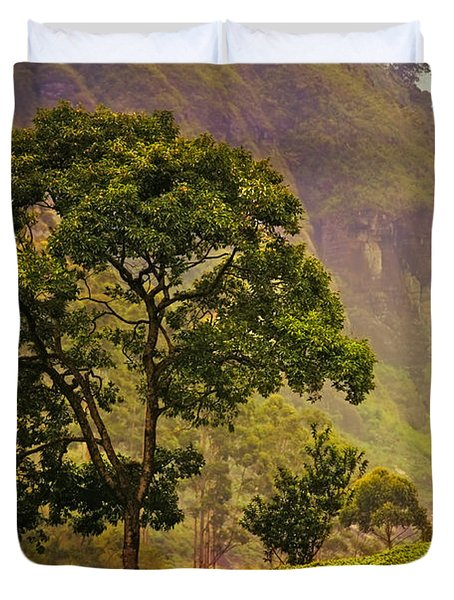 Among the Mountains and Tea Plantations. Nuwara Eliya. Sri Lanka Duvet Cover by Jenny Rainbow