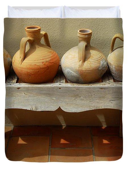Amphoras  Duvet Cover by Elena Elisseeva