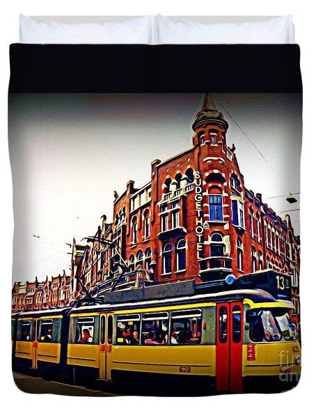 Amsterdam Transportation Duvet Cover by John Malone