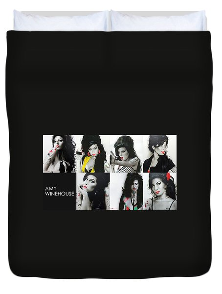 Amy Winehouse - 'amy Eternal' Duvet Cover by Christian Chapman Art