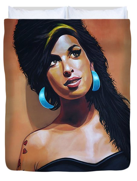 Amy Winehouse Duvet Cover by Paul  Meijering