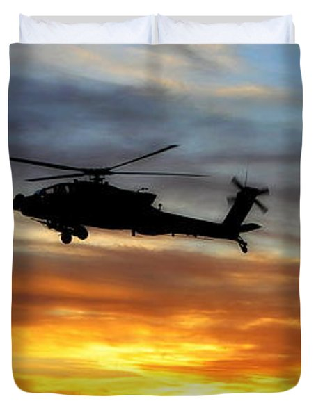 An Ah-64 Apache Duvet Cover by Paul Fearn