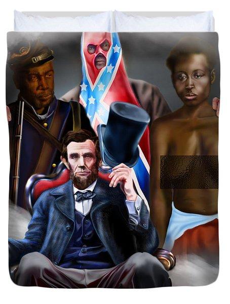 An American Family Portrait Duvet Cover by Reggie Duffie