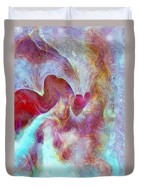 An Angels Love Duvet Cover by Linda Sannuti