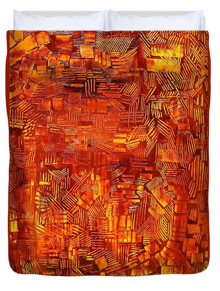 An Autumn Abstraction Duvet Cover by Michael Kulick