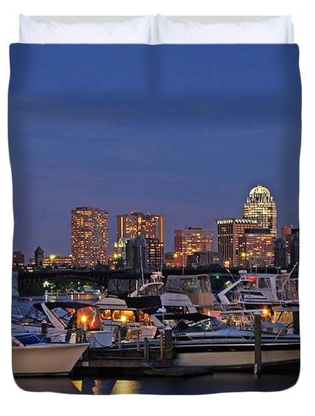 An Evening On The Charles Duvet Cover by Joann Vitali