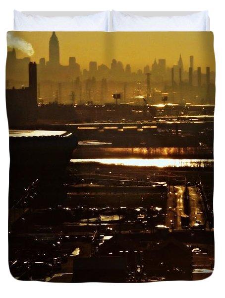 An Imposing Skyline Duvet Cover by James Aiken