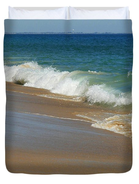An Ocean View  Duvet Cover by Neal  Eslinger