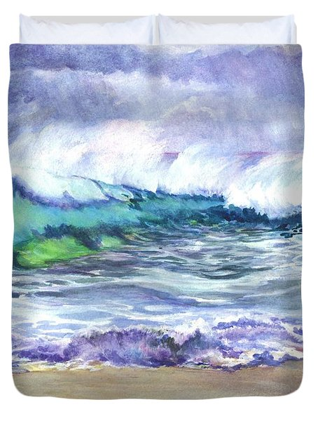 AN ODE TO THE SEA Duvet Cover by Carol Wisniewski