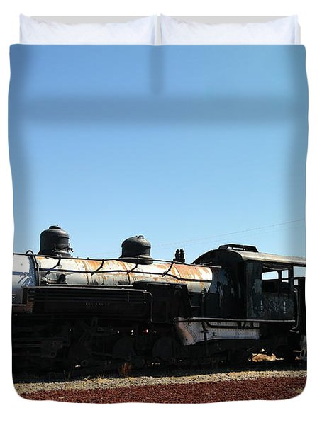 An Old Engine Duvet Cover by Jeff Swan