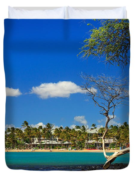 Anaehoomalu Bay Duvet Cover by James Eddy