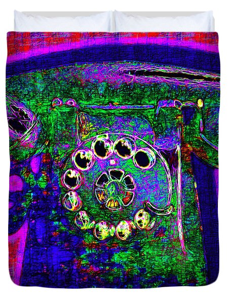 Analog A-phone - 2013-0121 - V4 Duvet Cover by Wingsdomain Art and Photography