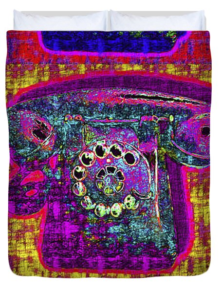 Analog A-phone Three - 2013-0121 Duvet Cover by Wingsdomain Art and Photography