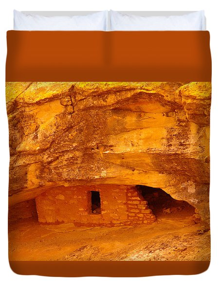 Anasazi Ruins  Duvet Cover by Jeff Swan