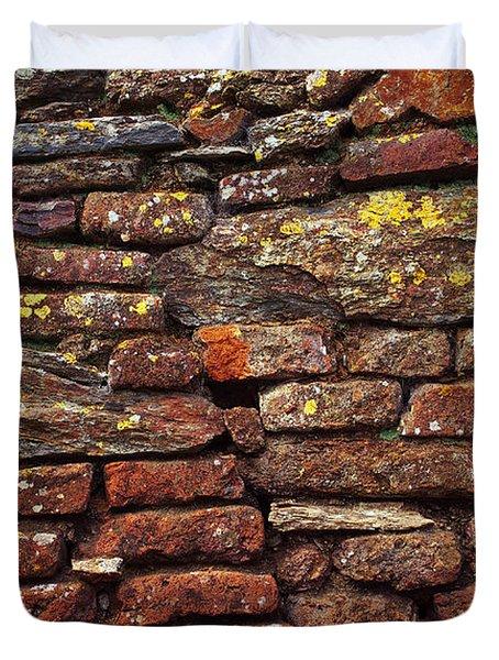 Ancient Wall Duvet Cover by Carlos Caetano