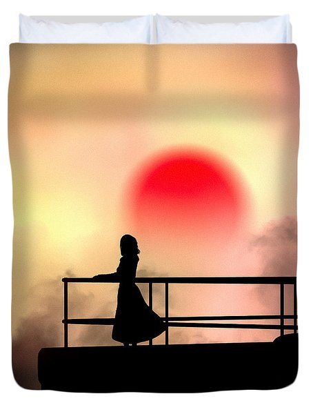 and the sun also rises Duvet Cover by Bob Orsillo