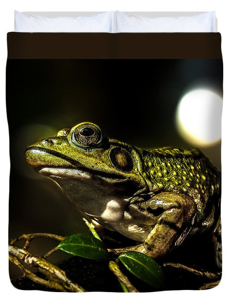 And This Frog Can Sing Duvet Cover by Bob Orsillo