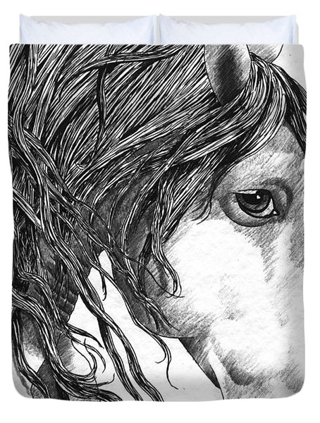 Andalusian Horse Duvet Cover by Kate Black