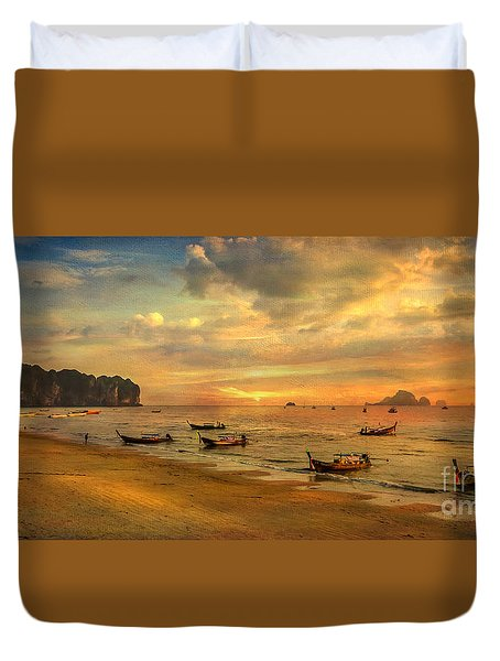 Andaman Sunset Duvet Cover by Adrian Evans