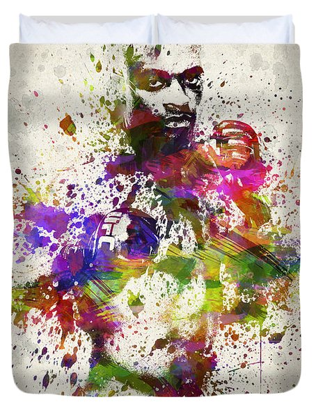 Anderson Silva Duvet Cover by Aged Pixel