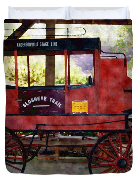 Andersonville Stage Line Slosheye Trail Duvet Cover by Kim Pate